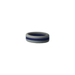 Grey/Navy Stripe Silicone Ring