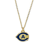 UC Davis Fan Necklace