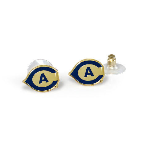 UC Davis Post Earrings