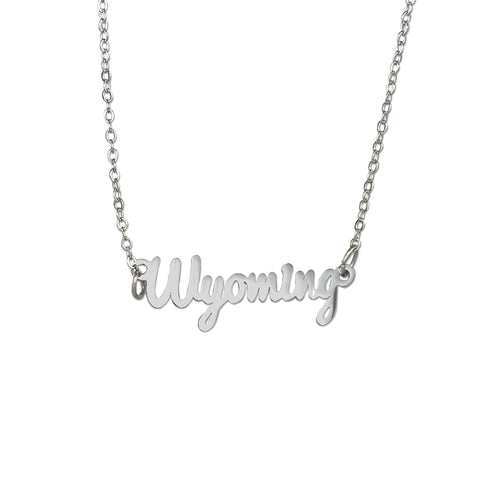 Wyoming Script Necklace