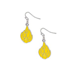 Wayland Baptist University Pioneers Dangle Earrings