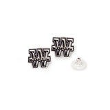 Wayland Baptist University Pioneer Post Earrings