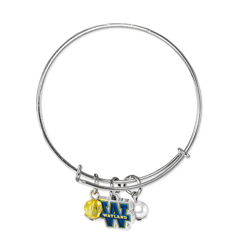 Wayland Baptist University Pioneers Bangle Bracelet
