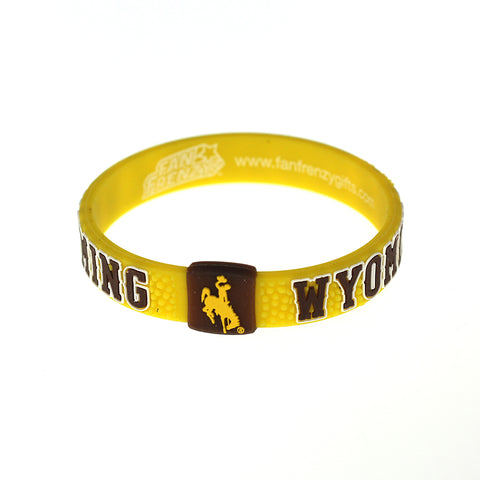 University of Wyoming Cowboys Pebble Silicone Bracelet