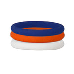 Navy/Orange/White Stackable Silicone Ring