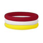 Maroon/Yellow/White Stackable Silicone Ring