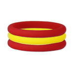 Yellow/Red Stackable Silicone Ring