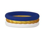 Navy/Rope Gold/White Stackable Silicone Ring