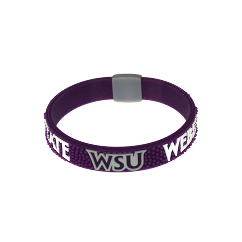 Weber State University Wildcats Pebble Silicone Bracelet