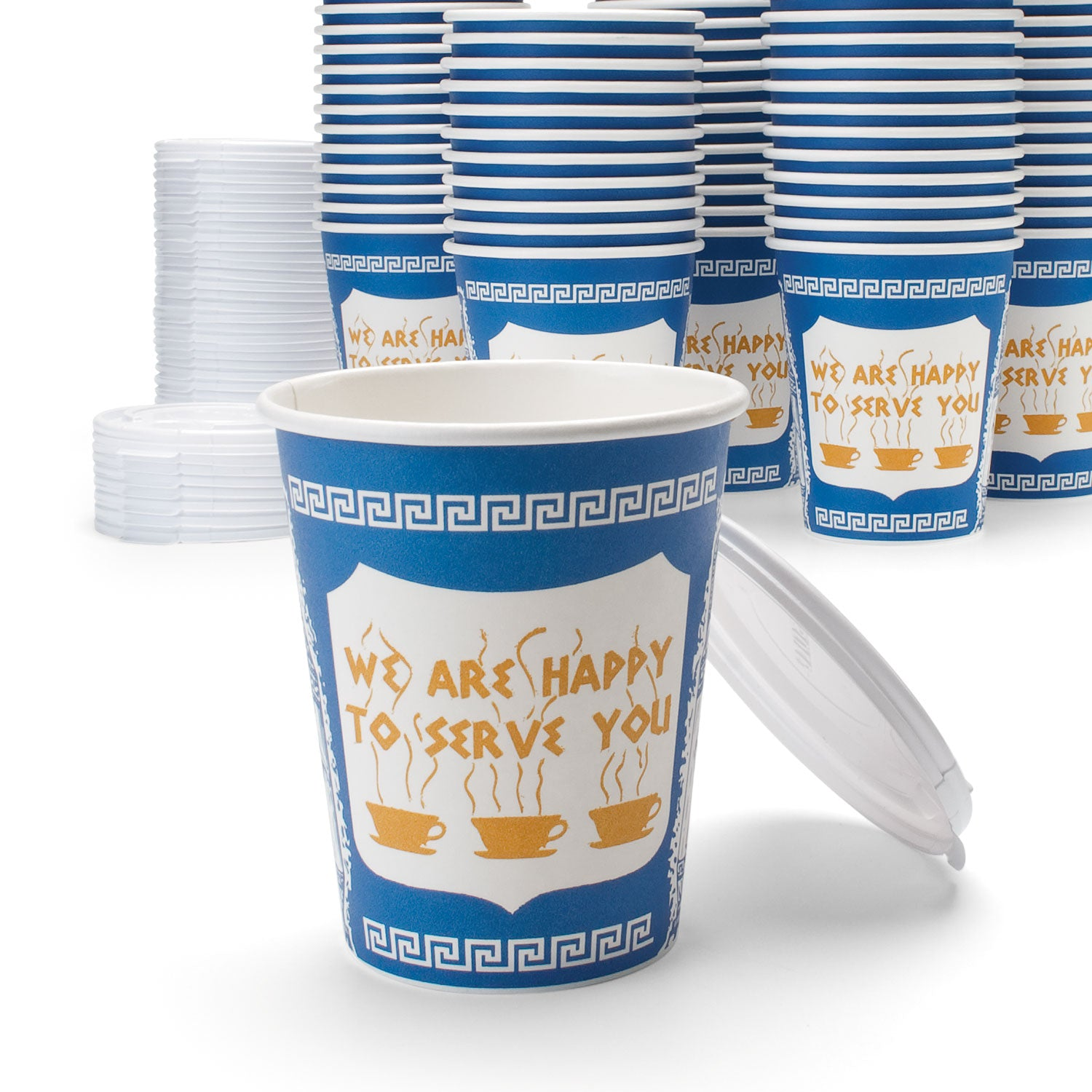 50 Genuine New York Coffee Cups With Lids The First Company
