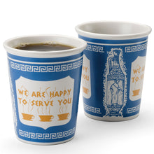 "Load image into Gallery viewer, 10oz ""We Are Happy To Serve You"" Ceramic Cup"