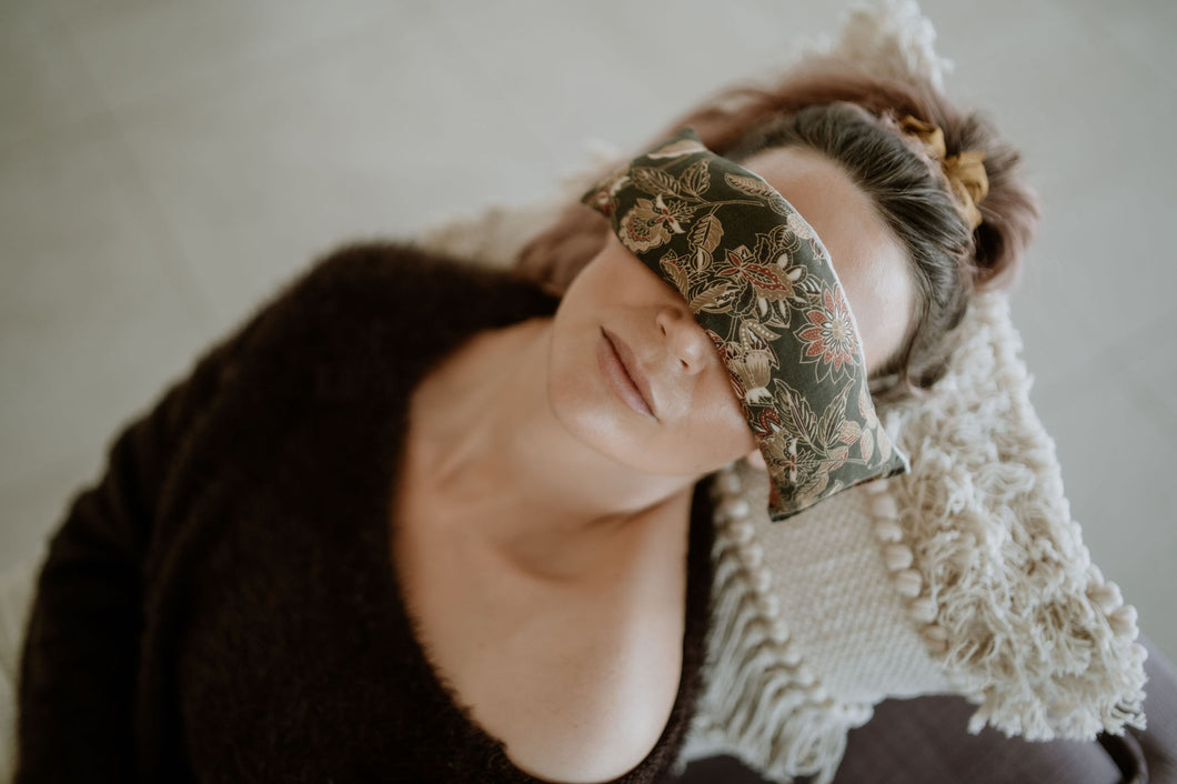 Whimsical Floral Soothing Eye Pillow