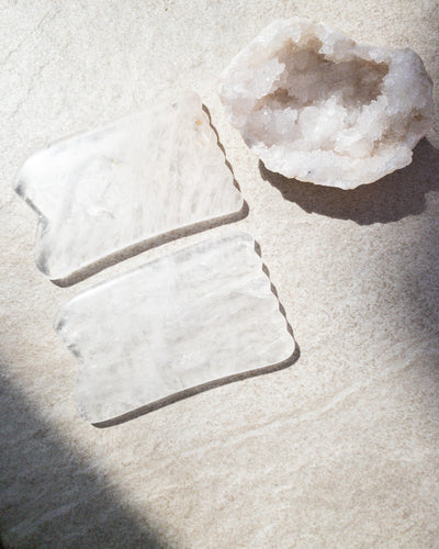 Nourished Cove | Gua Sha Massage Crystal | Clear Quartz