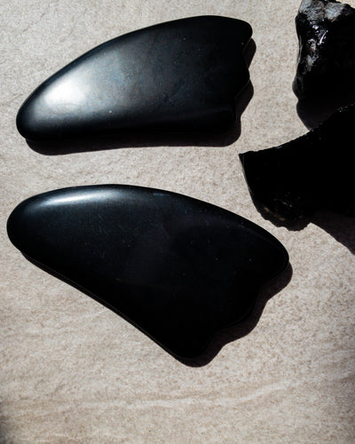 Nourished Cove | Gua Sha Massage Crystal | Obsidian