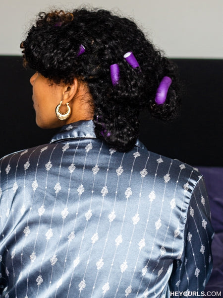 sleeping with natural hair flexi rods