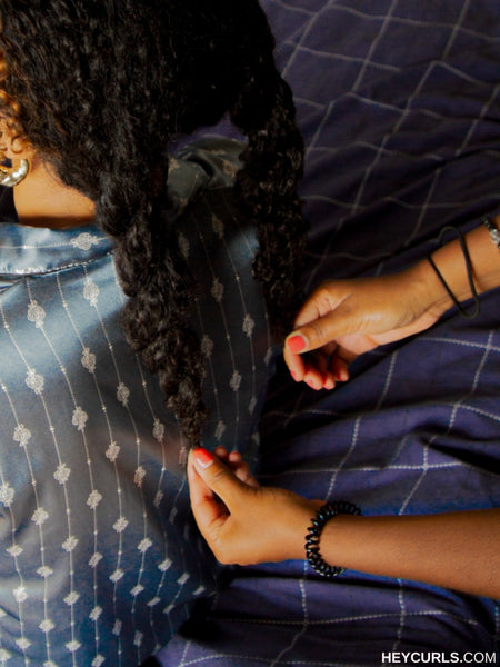 sleeping with natural hair two stranded twists