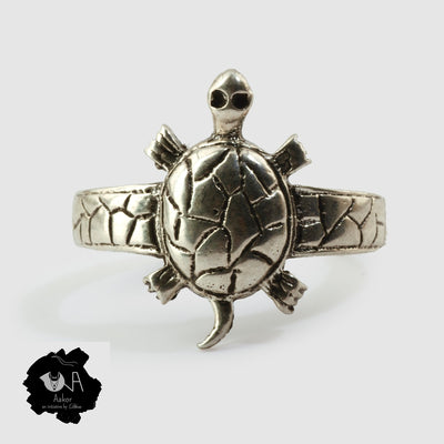 Pure Silver Handcrafted Lucky Tortoise Ring