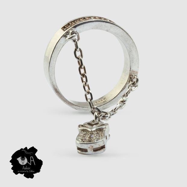 Love-Lock Pure Silver Ring - Boutique Dheu