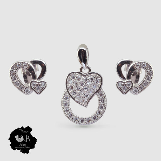 Pure Silver Pendant Set - Boutique Dheu