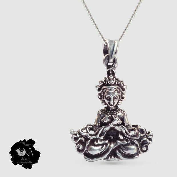 Pure Silver Oxidized Pendant - Boutique Dheu