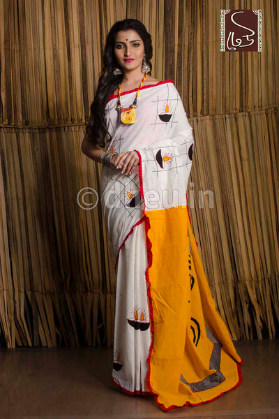 Diya-Dheu Exclusive Applique Saree