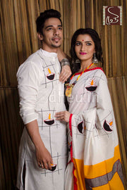 Diya Couple Set-Saree-Kurta