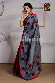 Fish-Dheu Exclusive Applique Saree