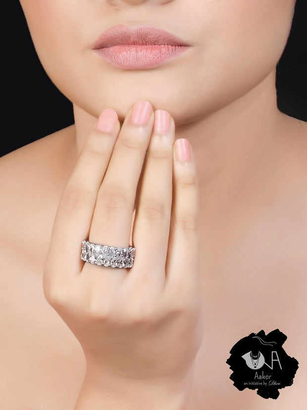Pure Silver Love Ring