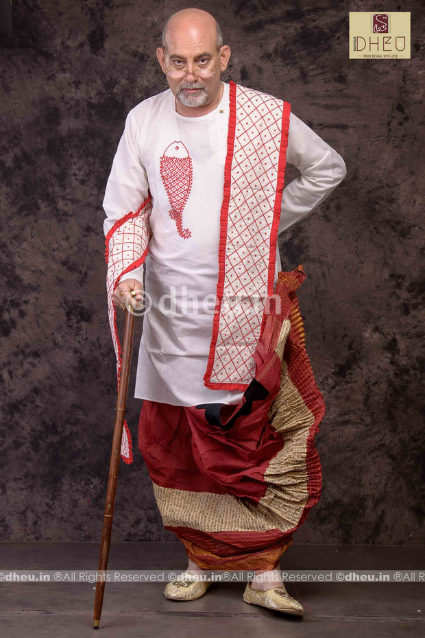 Bor Korta-Father's Choice - Dhoti Kurta Full Set - Boutique Dheu