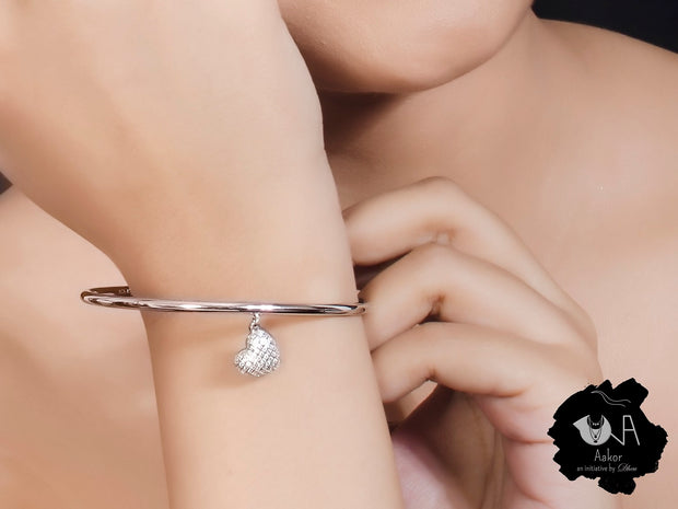 Pure Silver Love Bangle