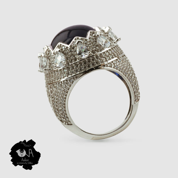 Royal Sterling silver Crown Ring - Boutique Dheu