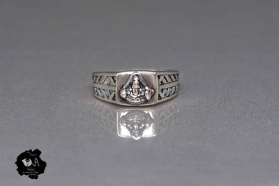 Pure Silver Handcrafted Balaji  Ring for Men