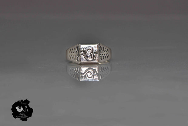 Pure Silver Handcrafted Om Ring for Men