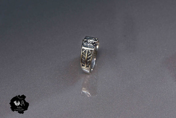 Pure Silver Handcrafted Ganesha Ring for Men