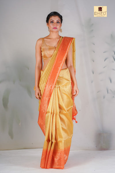 Designer Brocade Silk Saree