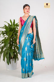Jasn e Blue -Designer Silk Saree
