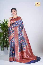 Floral Minakari- From the House of Nijams - Boutique Dheu
