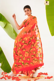 Projapoti -Exclusive Soft jamdani saree - Boutique Dheu