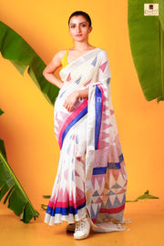 Digital Linen Saree - Boutique Dheu