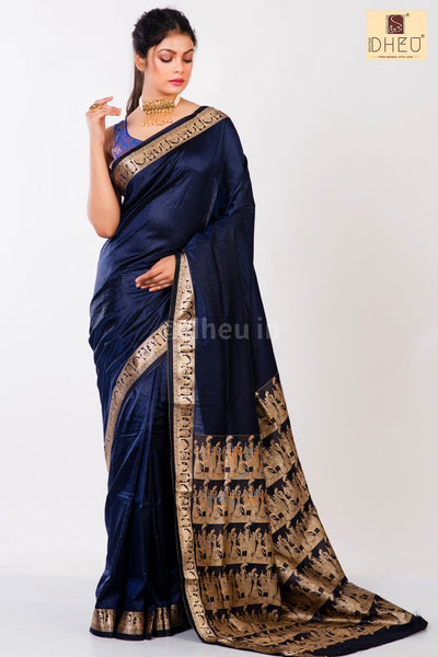 Baluchori Silk Handloom Saree-Festive Wear