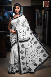 Kantha Fusion-Dheu Exclusive Applique Saree