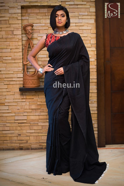 """Dheu Boutique ""Albeli – The Urban Drapes   Black   Colour  saree"