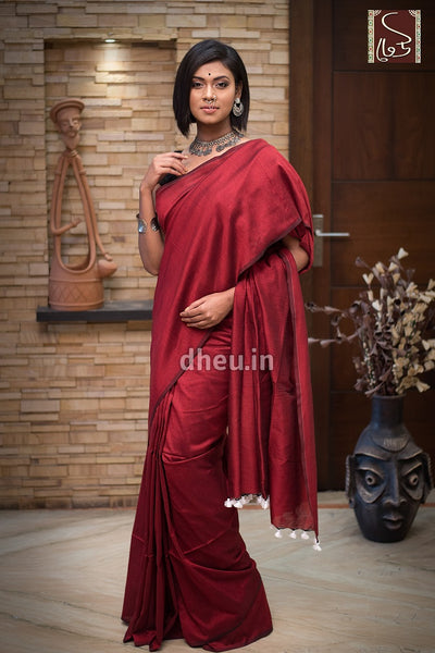 Albeli – The Urban Drapes-Maroon - Boutique Dheu