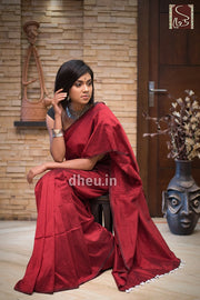 """Dheu Boutique ""Albeli – The Urban Drapes   Maroon Colour  saree"