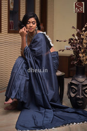 """Dheu Boutique ""Albeli – The Urban Drapes   Grey Colour  saree"
