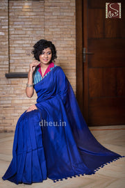 """Dheu Boutique ""Albeli – The Urban Drapes   Royal Blue Colour  saree"