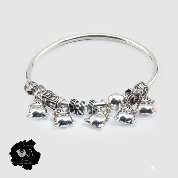 Pure Silver Bangle for Her - Boutique Dheu