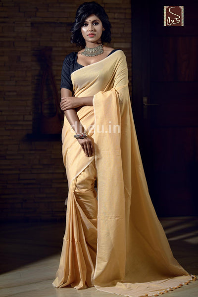 """Dheu Boutique ""Albeli – The Urban Drapes   Butter Yellow   Colour  saree"