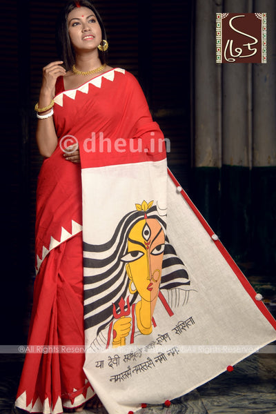 Exclusive Maa Durga Saree - Boutique Dheu