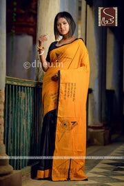 Kolkata-Dheu Exclusive Applique Saree